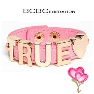 BCBGENERATION Pink Gold True Heart Bracelet